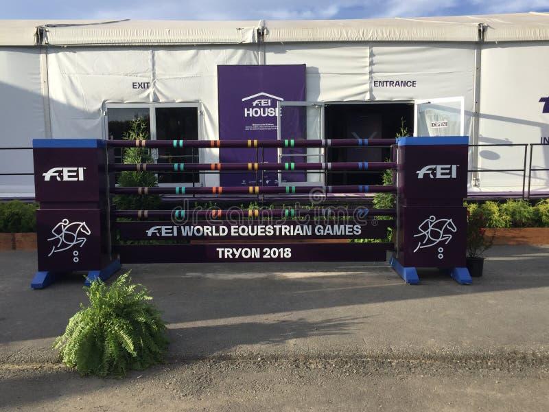 2018 światowych Equestrian gier - FEI dom zdjęcie royalty free