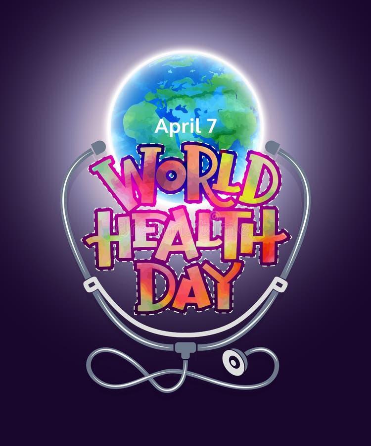 Światowych zdrowie dzień ilustracji