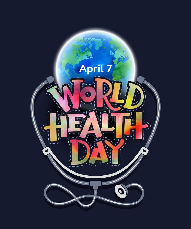 Światowych zdrowie dzień ilustracja wektor