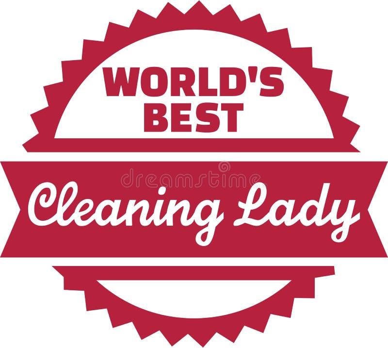 Światu Cleaning Najlepszy dama ilustracji