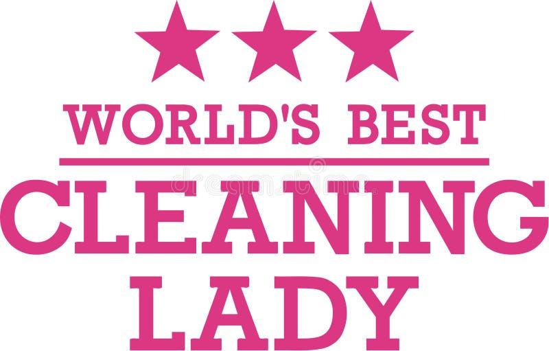 Światu Cleaning Najlepszy dama ilustracja wektor
