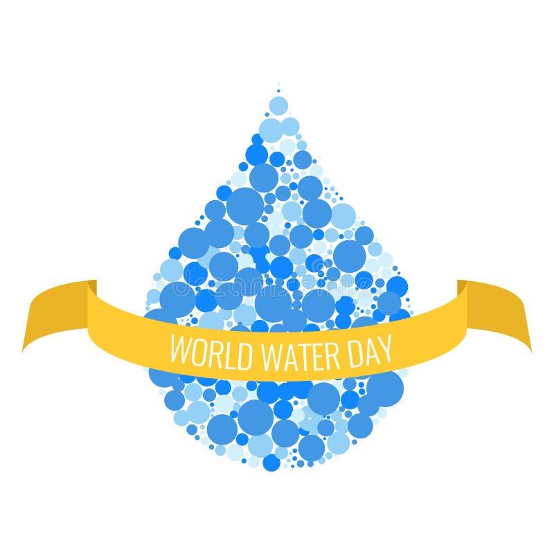 Światu dnia wodny plakat royalty ilustracja