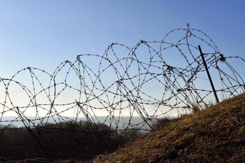 światu douaumont pierwszy fortu wojny drutu świat zdjęcie stock