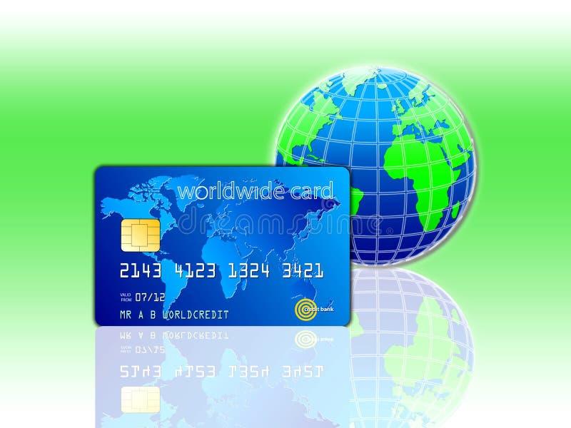 Światu Kredyta Karta royalty ilustracja
