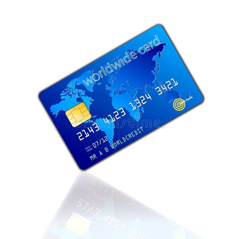 Światu Kredyta Karta ilustracja wektor