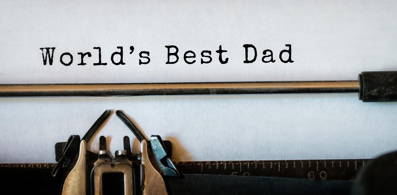 Światu najlepszy tata pisać na papierze zdjęcie stock