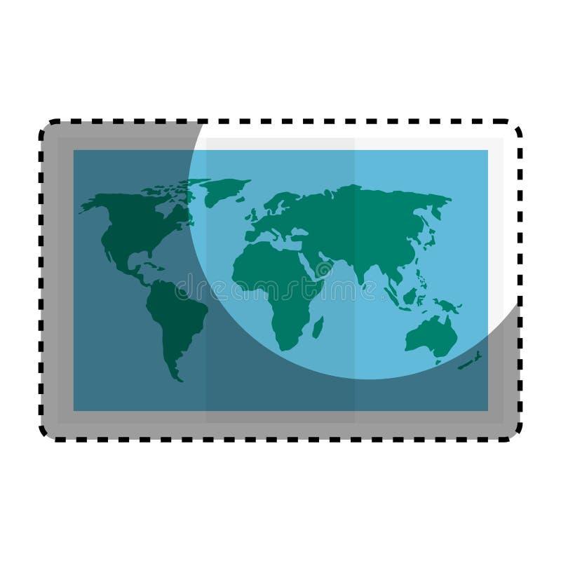 światu papieru mapy ikona ilustracja wektor