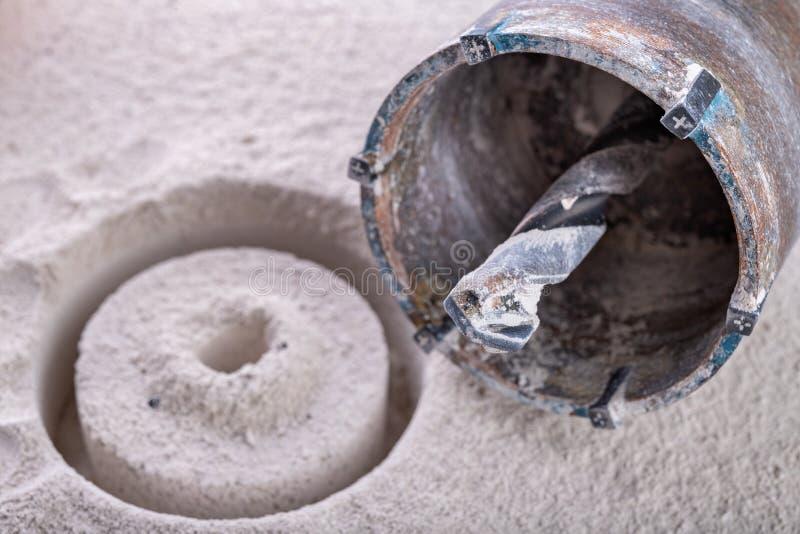 Świder dla wiertniczych ampuł dziur w ścianie Przyrząd dla robić dziury dla elektrycznych nasadek obraz stock