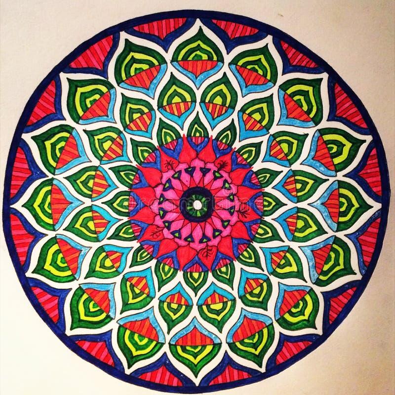Świderkowaty mandala koloryt obraz royalty free