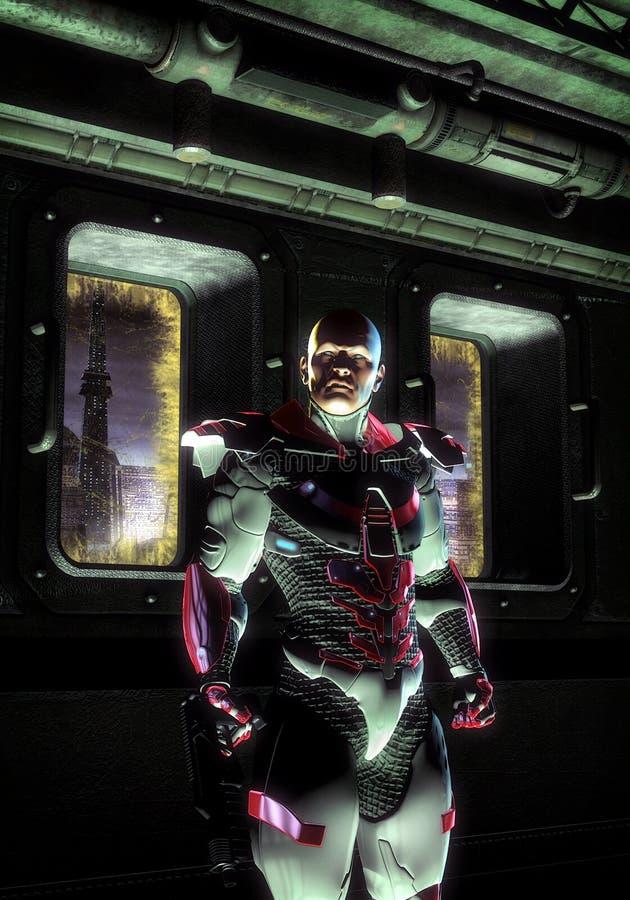 świderu futurystyczny sierżanta żołnierz ilustracji