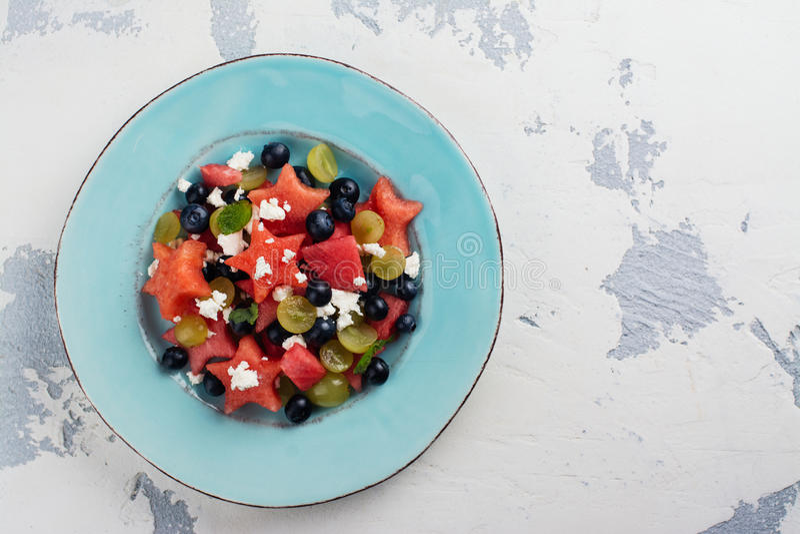 Świeża arbuz sałatka zdjęcie stock
