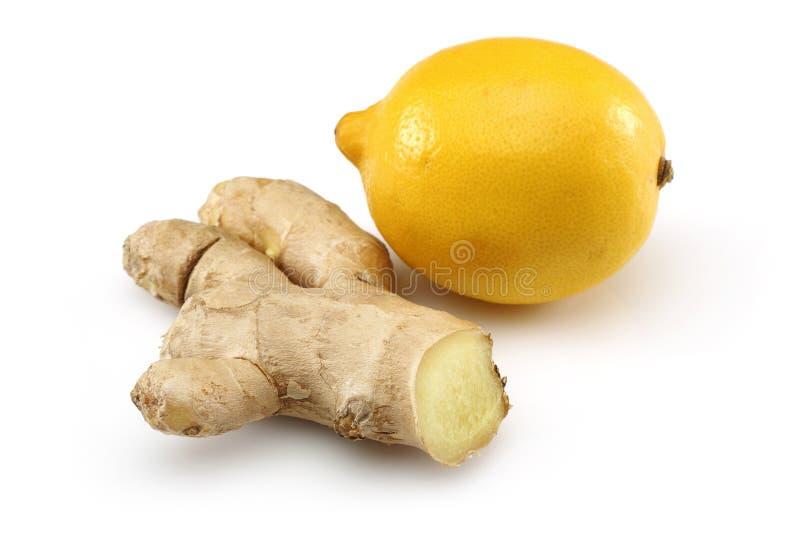 Świeża cytryna z imbirem zdjęcia stock