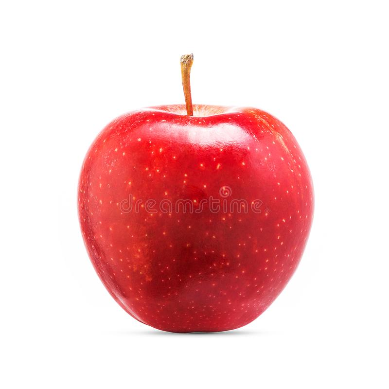 Świeża czerwona jabłczana owoc odizolowywająca na białym tle obraz royalty free