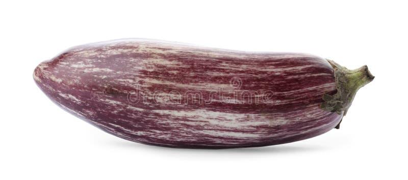 Świeża dojrzała purpurowa oberżyna odizolowywająca zdjęcie royalty free