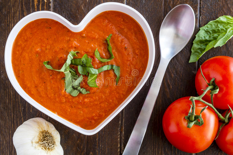 Świeża Domowej roboty Pomidorowa polewka obraz royalty free