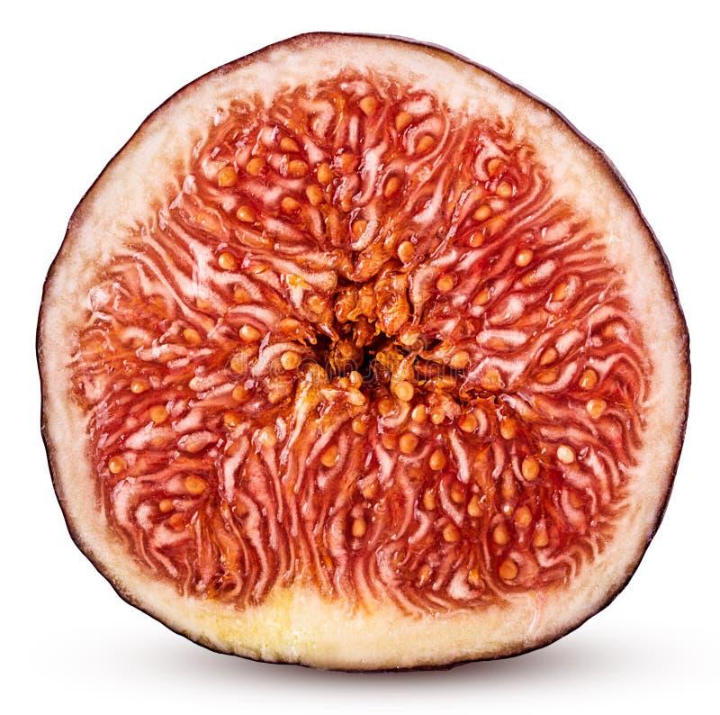 Świeża figi owoc ciąca w połówce obrazy royalty free