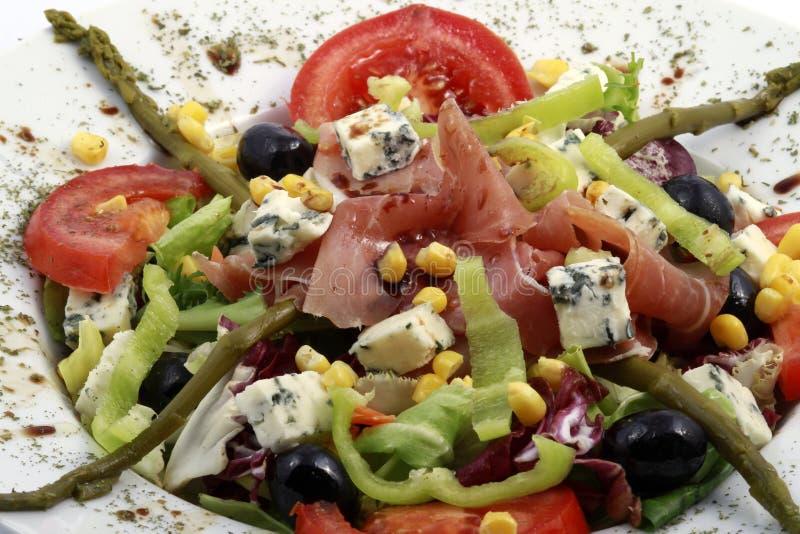 świeża Gorgonzola prosciutto sałatka obrazy stock