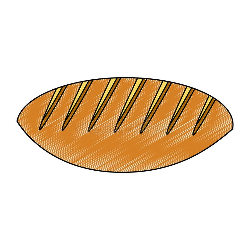 Świeża i wyśmienicie chlebowa skrobanina ilustracji