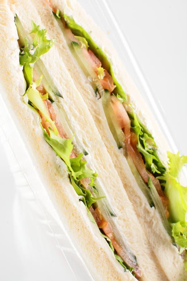 Świeża kanapka na białym tle obraz stock