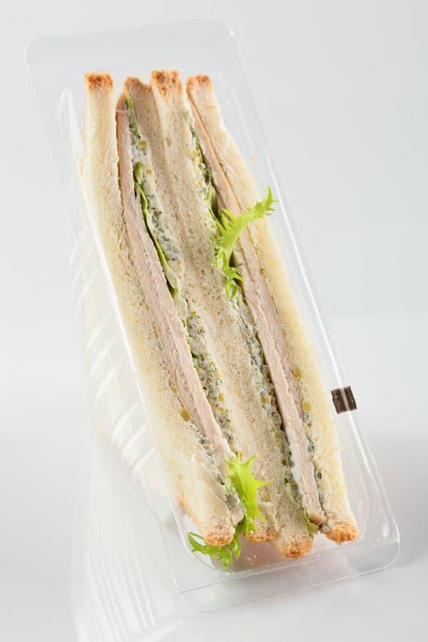 Świeża kanapka na białym tle zdjęcia royalty free