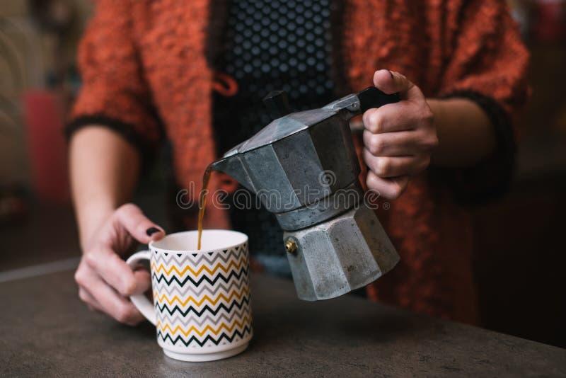Świeża kawa zdjęcia stock
