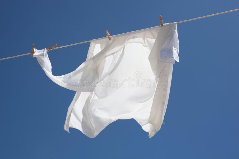 Świeża myjąca biała koszula zdjęcie royalty free