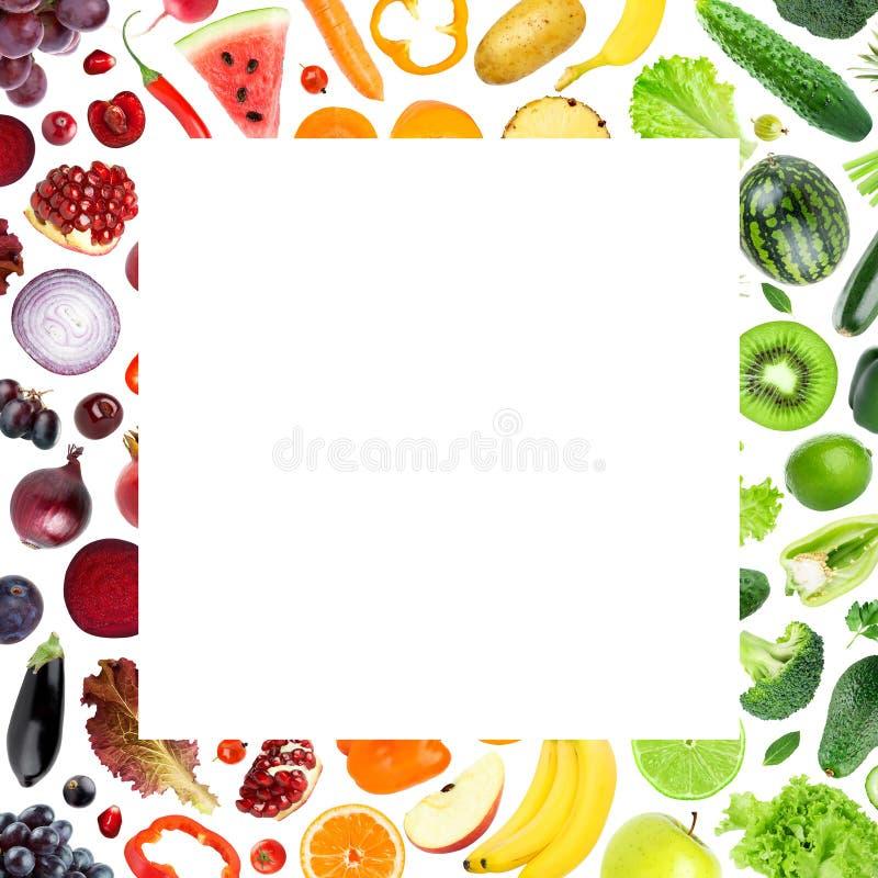 Świeża owoc i warzywo rama royalty ilustracja