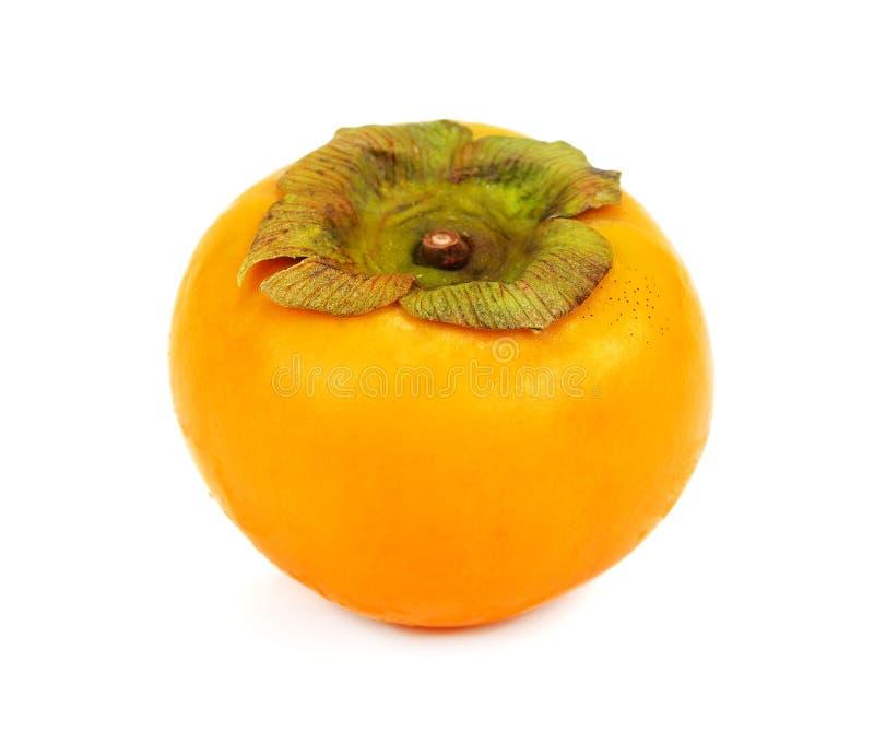 Świeża persimmon owoc na białym tle obraz stock