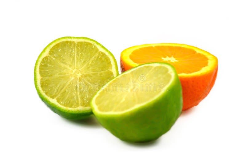 Świeża pomarańcze i cytryna zdjęcia stock