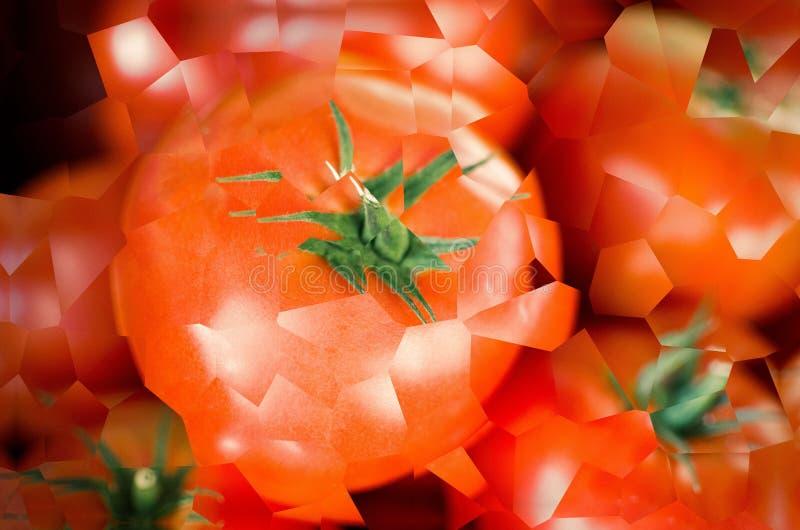 Świeża sztuka abstrakcyjna czerwonego pomidora obrazy stock