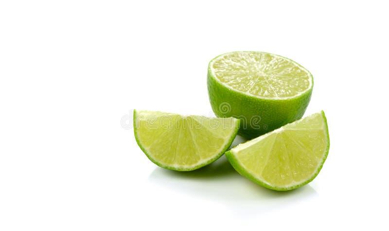 Świeża wapno cytryny owoc odizolowywająca na białym tle obrazy royalty free