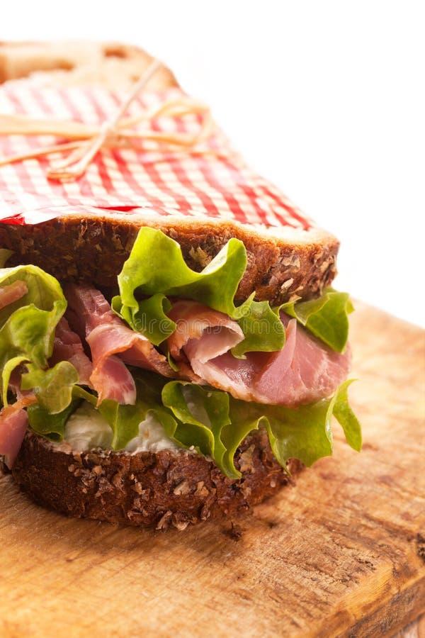 Świeża wyśmienicie kanapka obraz stock