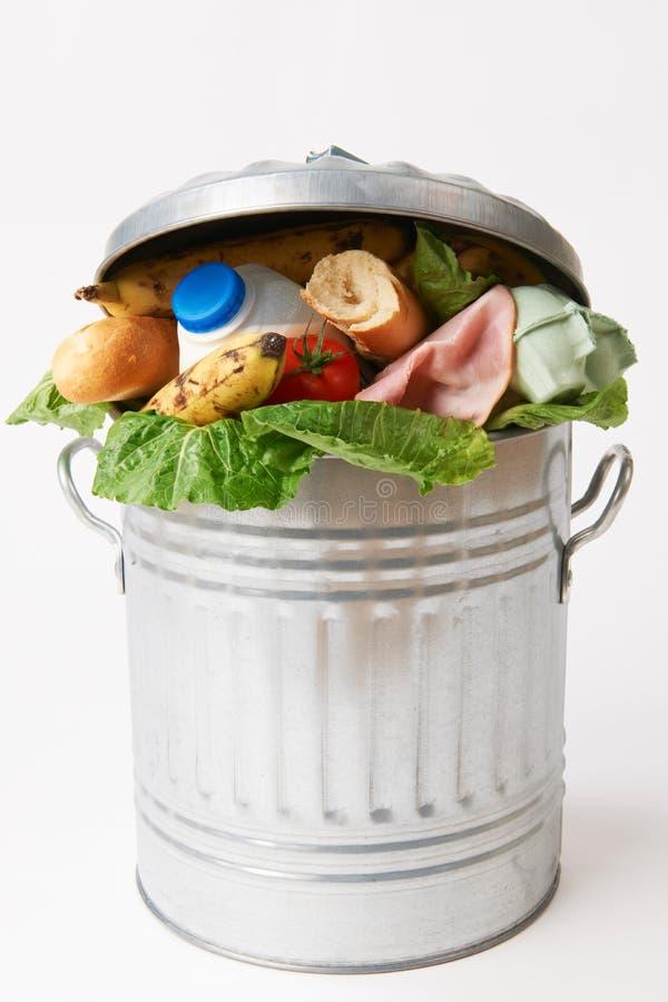 Świeża Żywność W Pojemnik Na śmiecie Ilustrować Odpady Zdjęcie Stock