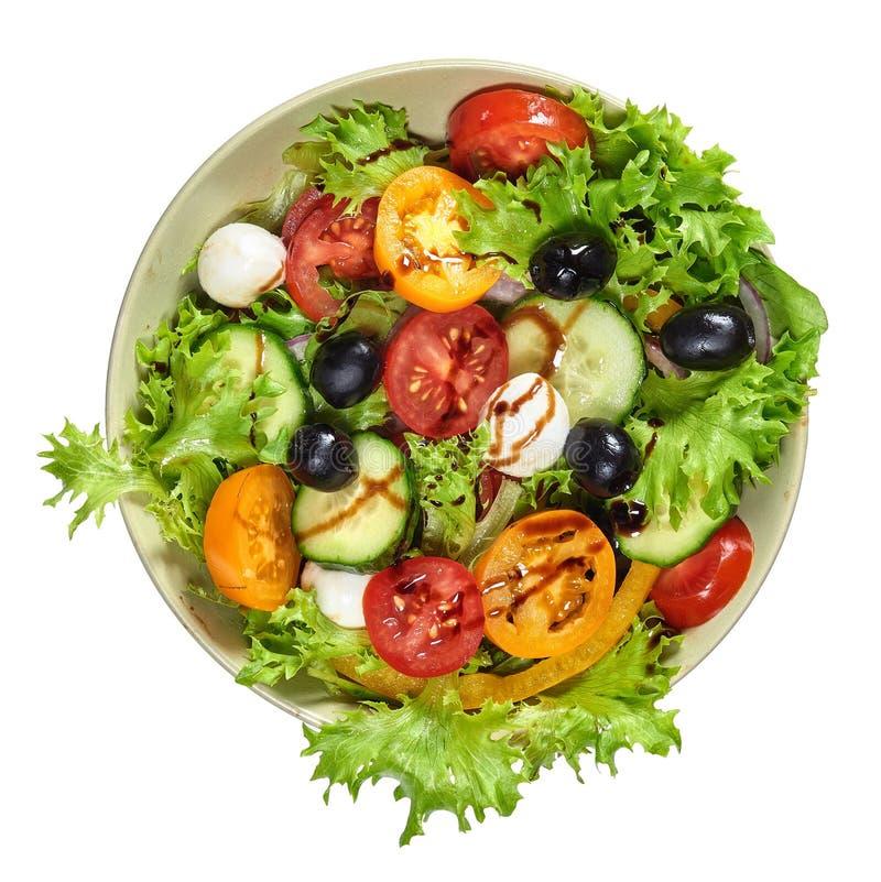 Świeża zdrowa jarzynowa sałatka z mozzarellą fotografia stock