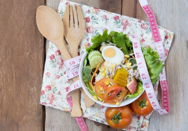 Świeża zdrowa sałatka, diety pojęcie obraz stock