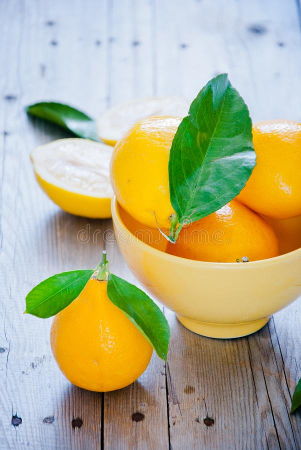 świeże cytryny organiczne zdjęcie stock