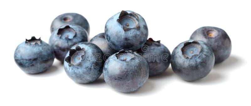 Świeże czarne jagody na białym tle zdjęcia stock