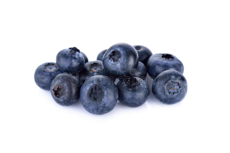 Świeże czarne jagody odizolowywać na białym tle fotografia stock