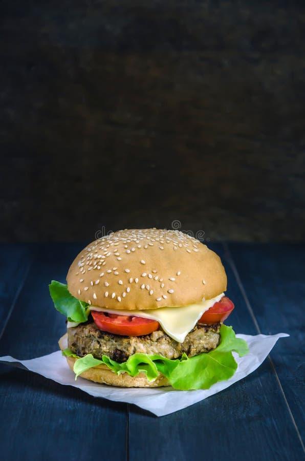 świeże dof tło hamburgery smaczny biały nisko fotografia stock