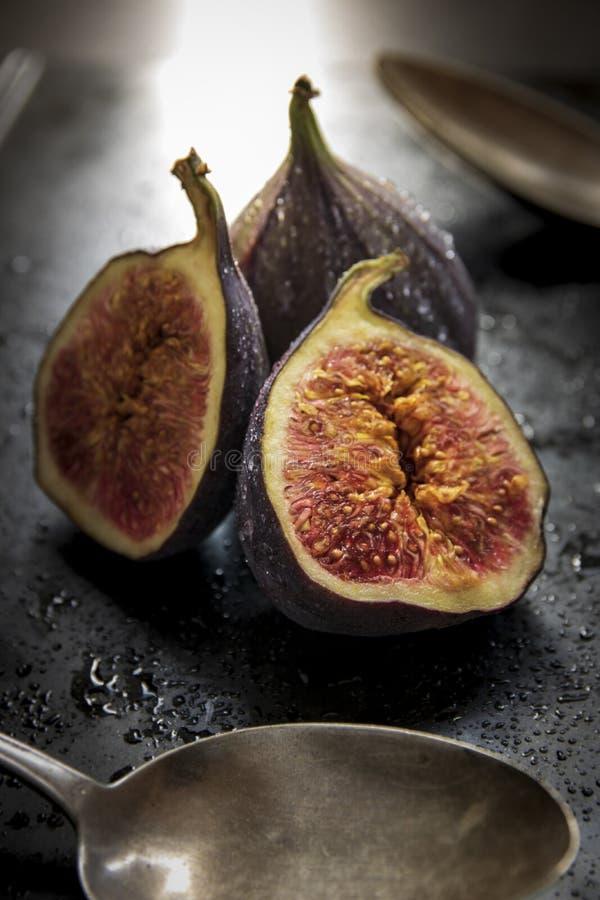 Świeże figi z waterdrops obrazy stock