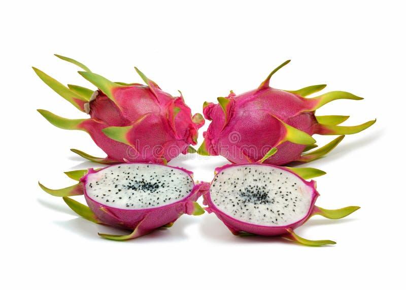 Świeże i wyśmienicie smok owoc Pitahaya odizolowywający w białym tle zdjęcie royalty free