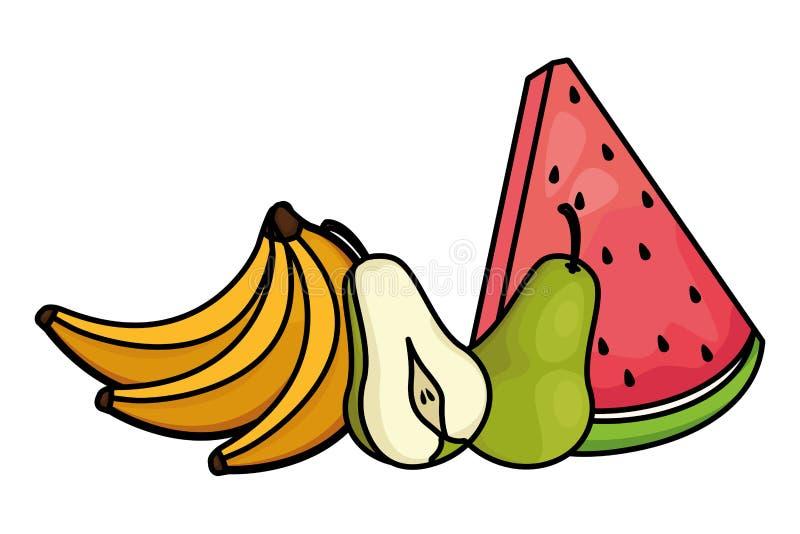 Świeże i wyśmienicie tropikalne owoc ilustracji