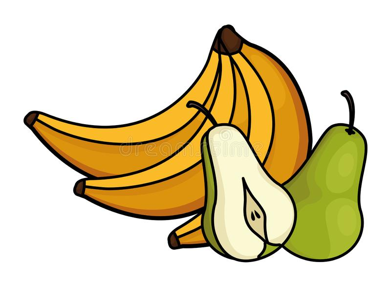 Świeże i wyśmienicie tropikalne owoc ilustracja wektor
