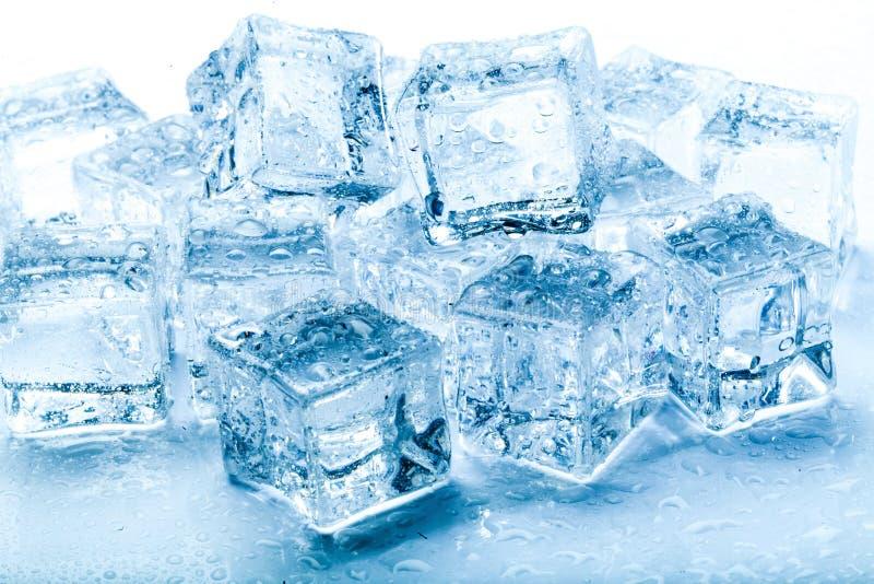 Świeże kostki lodu zdjęcia stock