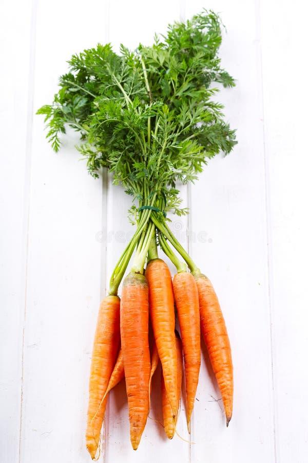Świeże marchewki zdjęcia royalty free