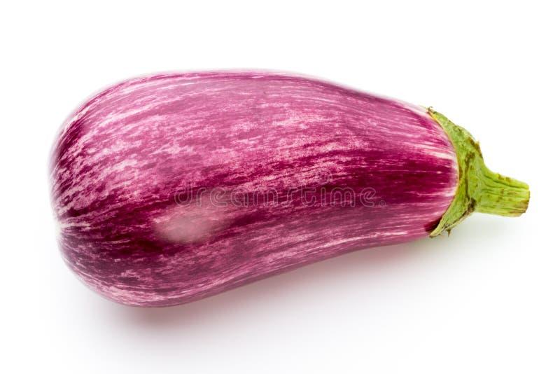 Świeże oberżyny, aubergine na białym tle obraz royalty free