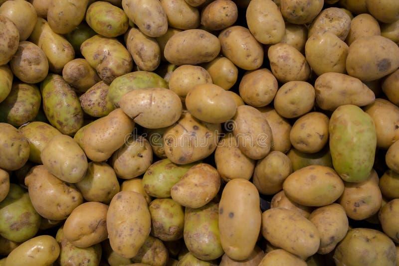 Świeże organicznie młode grule sprzedawać na rynku Grul surowych warzyw jedzenia wzór w rynku Świeża organicznie grula stoi za wś obraz royalty free
