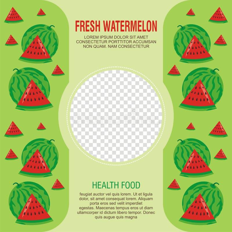 Świeże owoc ulotki lub broszurka szablon projekt ilustracja wektor