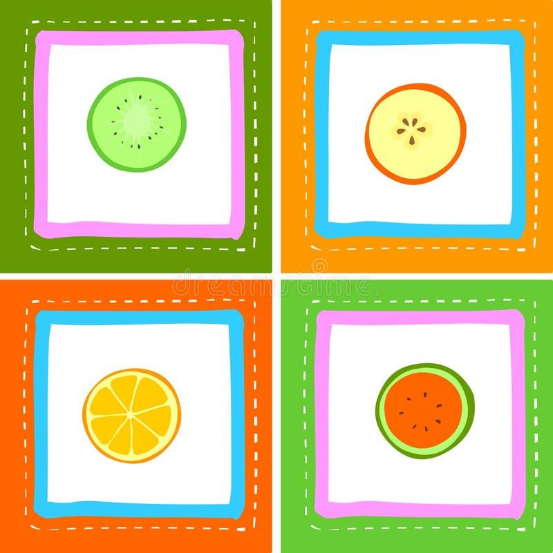 świeże owoce royalty ilustracja