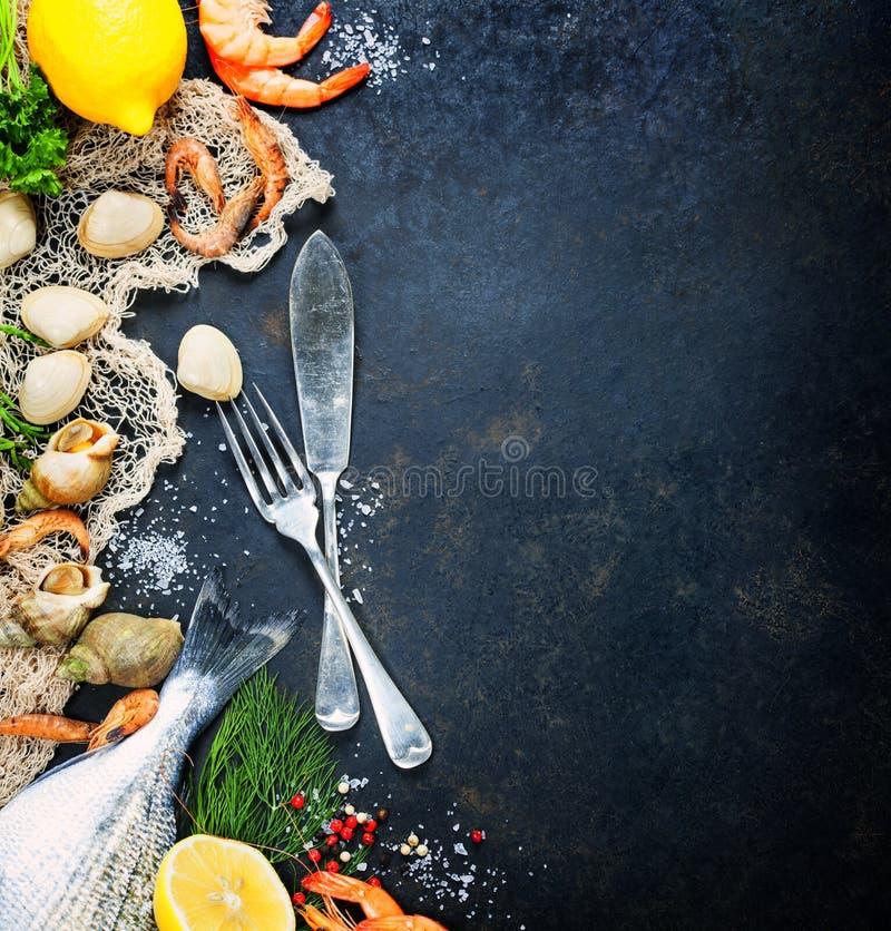 świeże owoce morza zdjęcia stock